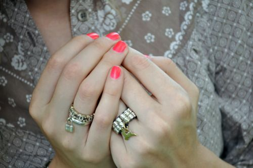 I have always loved rings with charms. -so pretty