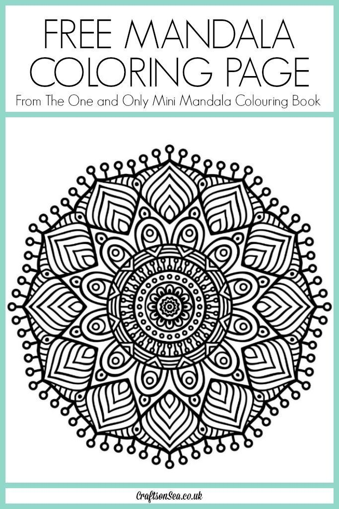 This Gorgeous Free Mandala Coloring Page Is From The One And Only Mini Colouring Book