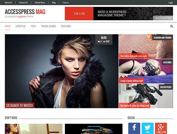 Latest free responsive WordPress themes June 2015