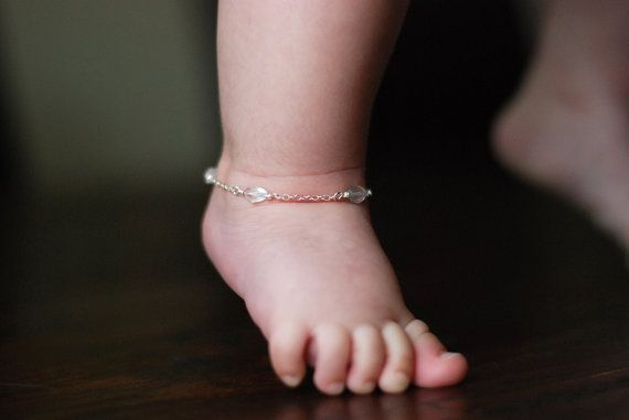 Baby Ankle Bracelet Jewelry By Aupepied On Etsy 34 99