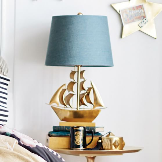 The Emily Meritt Pirate Ship Table Lamp Emily And Meritt Pirate Room Pirate Lamp