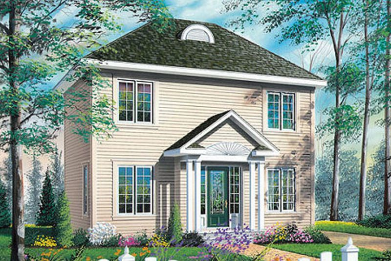 Colonial style house plan 3 beds 15 baths 1314 sqft
