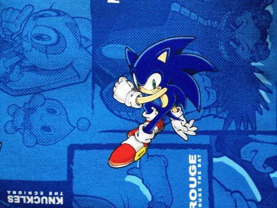Sonic The Hedgehog Blue Colour Half Yard By Hanamiboutique In 2020 Blue Color Sonic The Hedgehog Color