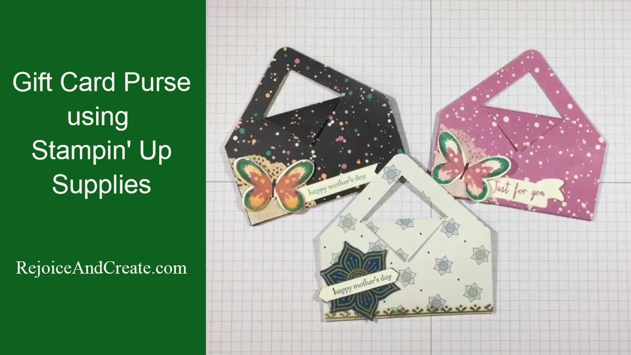 Gift card purse using stampin up products youtube