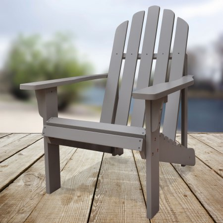 Pleasing Shine Company Marina Adirondack Chair Taupe Grey Gray In Gamerscity Chair Design For Home Gamerscityorg