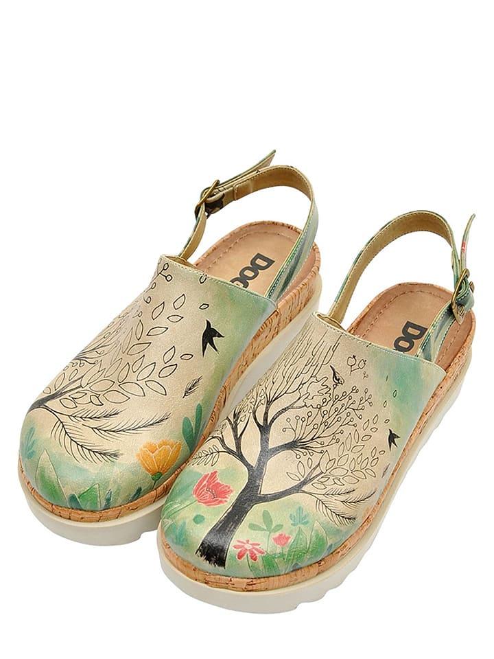 Sandaly Tree Of Life W Kolorze Bezowym Ze Wzorem Dogo Wyprzedaz W Outlet Limango Flatform Sandals Womens Sandals Akita