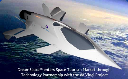 DreamSpacetm enters Space Tourism Market through Technology Partnership with the da Vinci Project