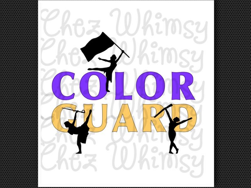 Color Guard Svg Guard Cutting Files Colorguard Digital