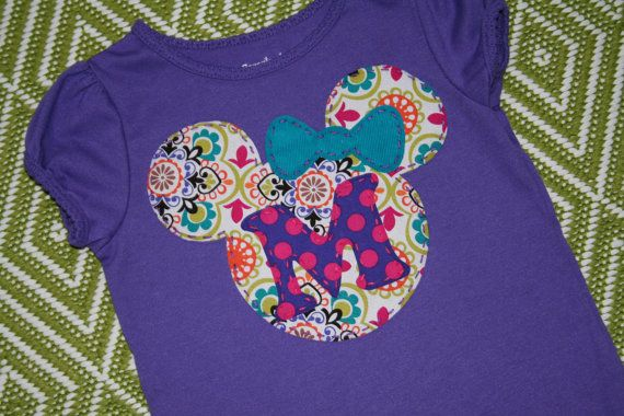 Disney Vacation Shirt, for your little Mickey or Minnie Mouse, with or without initial applique. $29.95, via Etsy.