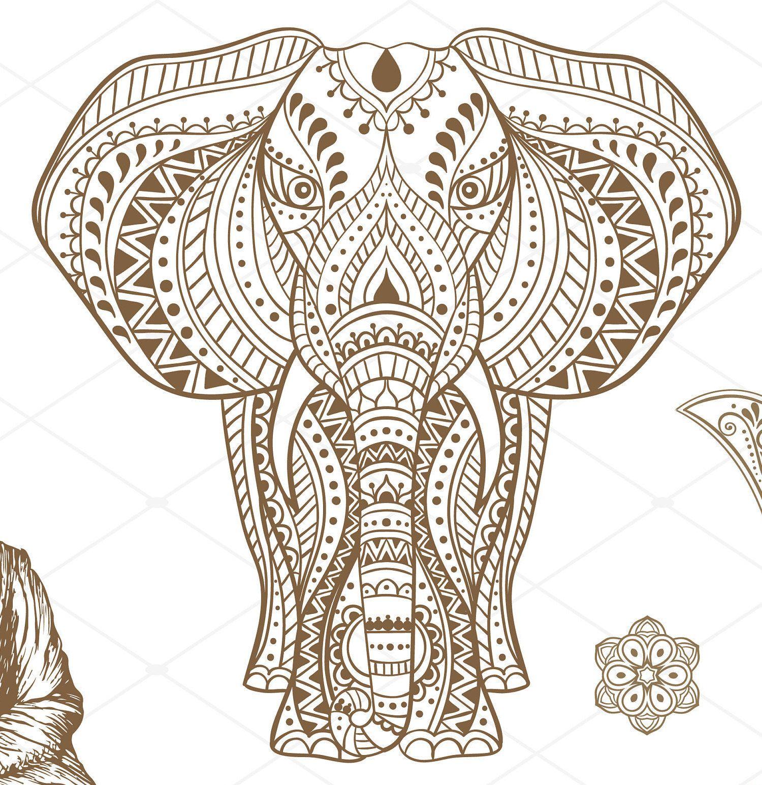Mandala Svg Feng Shui Svg Elefante Svg Hindu Svg Elephant
