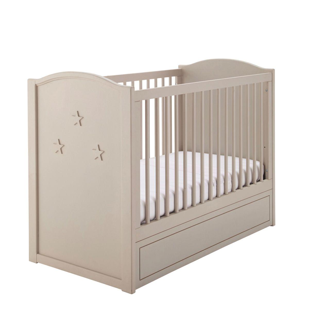 Lit bébé à barreaux beige Circus   Déco chambre bébé   Pinterest ...