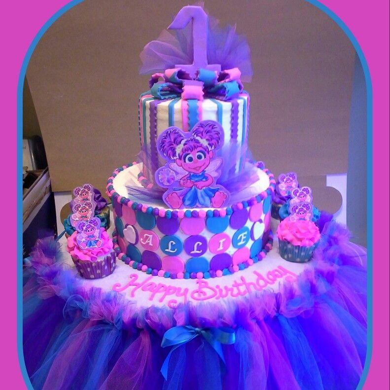 Brilliant Abby Cadabby Tutu Cake Elmo Birthday Party Sesame Street Personalised Birthday Cards Veneteletsinfo