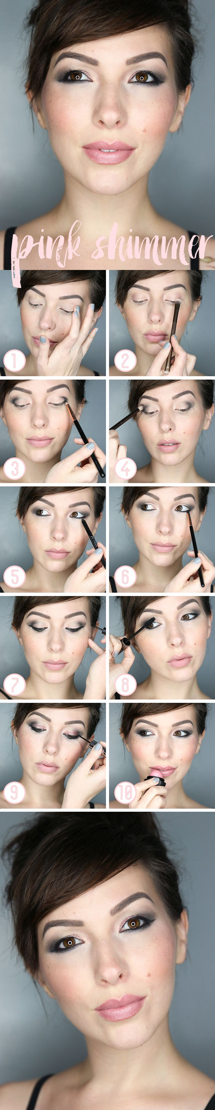 Pink and grey shimmery makeup tutorial with sheer pink shimmer eos pink and grey shimmery makeup tutorial with sheer pink shimmer eos baditri Images