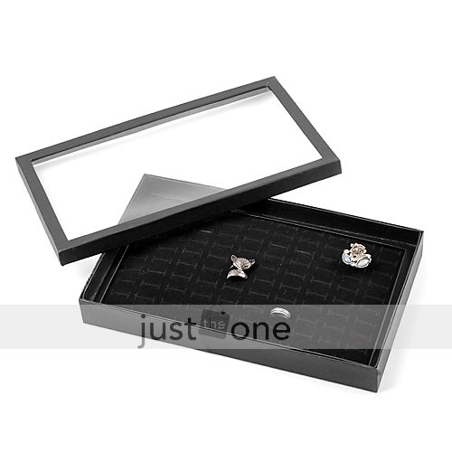100 Slots Jewelry Rings Velvet Display Holder Organizer Show Case Tray Box Case | eBay