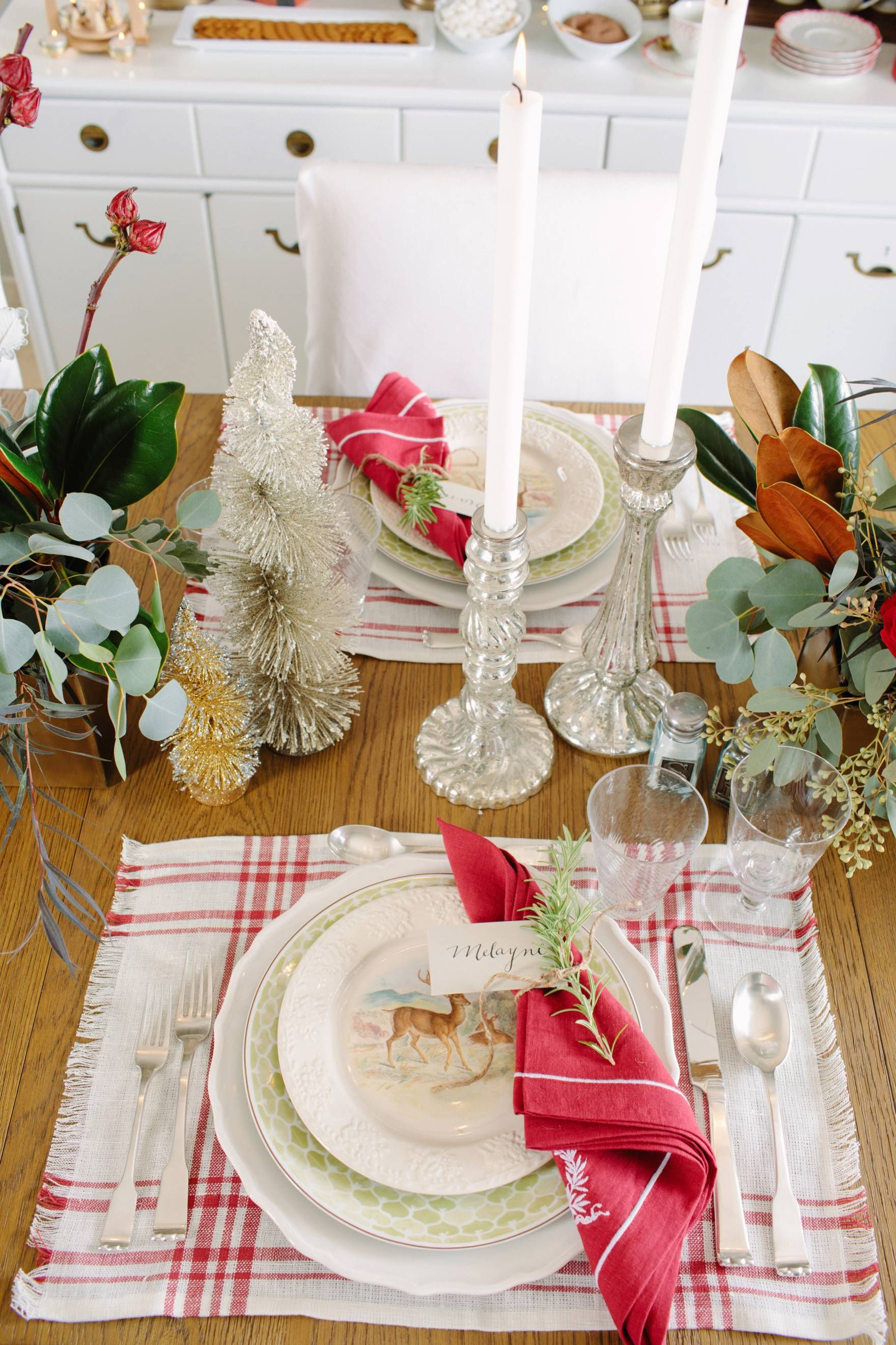 Christmas Holiday Tables Cape Inspiration Red Green And White Ballard