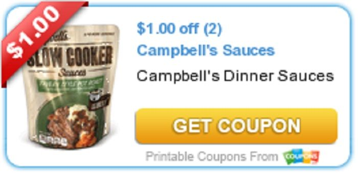 NEW Coupon- $1.00 off (2) Campbell\'s Sauces!! Print here-} http ...