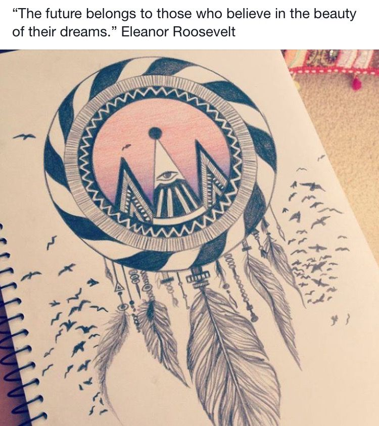 Pin By Victoria On Positive Thinking Pinterest Draw Art Amazing Dream Catcher Drawing Easy