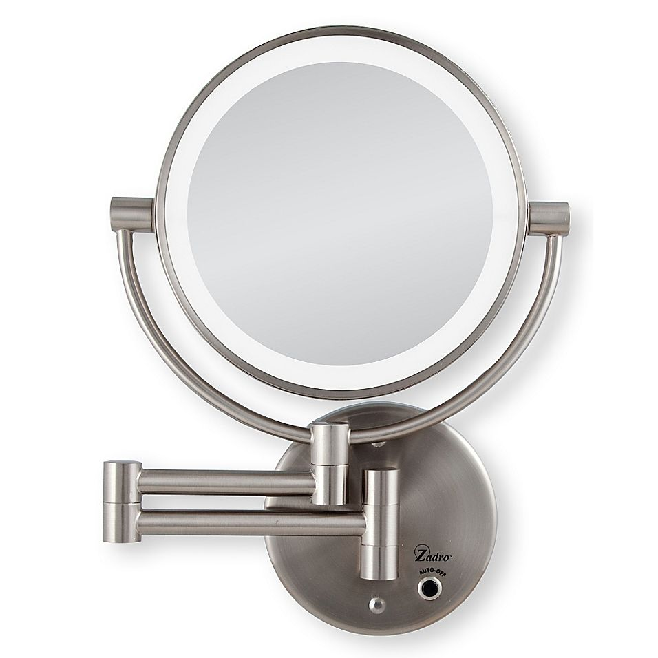 Zadro 10x 1x Cordless Led Lighted Wall Mirror Bed Bath Beyond Lighted Wall Mirror Wall Mounted Mirror Makeup Mirror