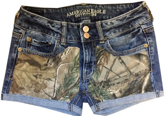 Hunting Camo AP Realtree Shorts by ToDyeForGlam on Etsy