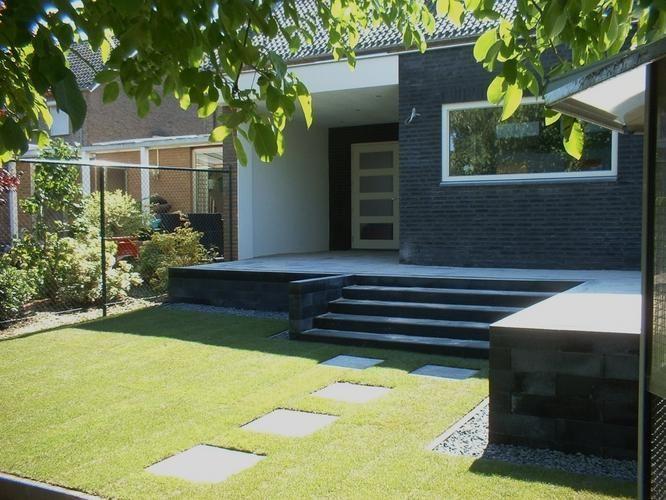 Afbeeldingsresultaat voor verhoogd terras schuur tuin en