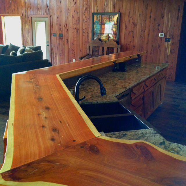 Genial Bar Made Out Of Cypress Tree.