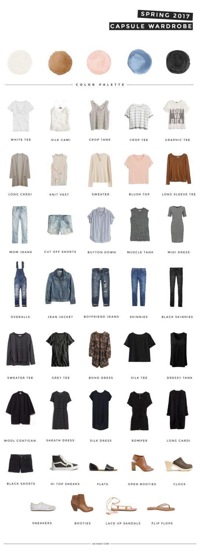 Capsule Wardrobe Frühjahr 2017 | Basic Outfit Inspiration #summerwardrobe