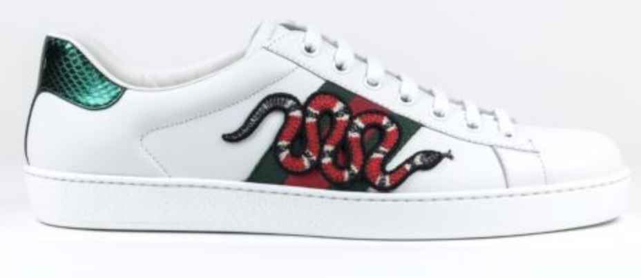 acd51bd51 FOR SALE: 100% Authentic NEW Gucci Ace Embroidered Snake Sneaker White/Red