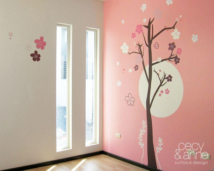 Flor de cerezo por islasmowin on deviantart decoraci n de cuartos pinterest cherry - Vinilos para habitacion nina ...