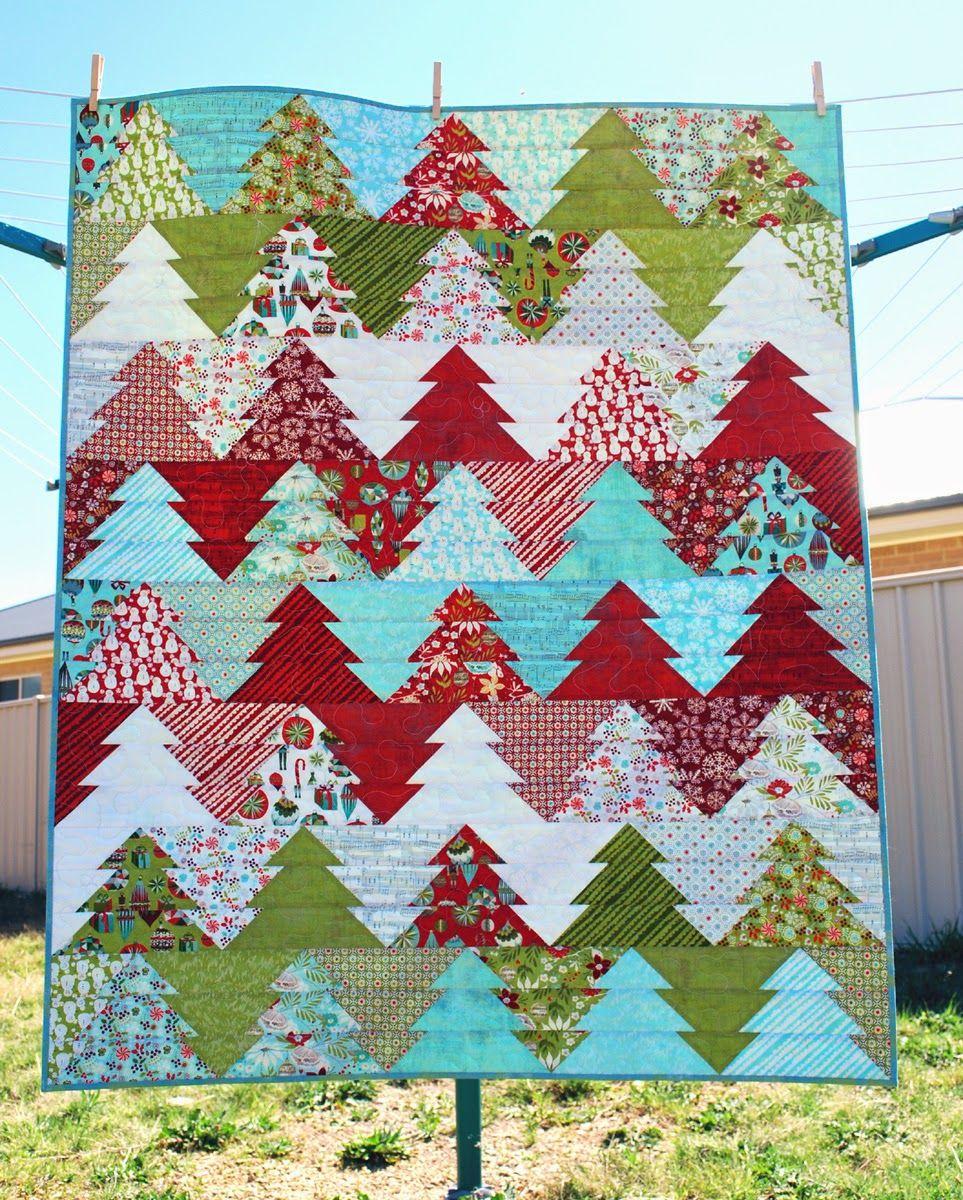 Hopeus Quilt Designs Wander through the Woods quilt in Aspen Frost