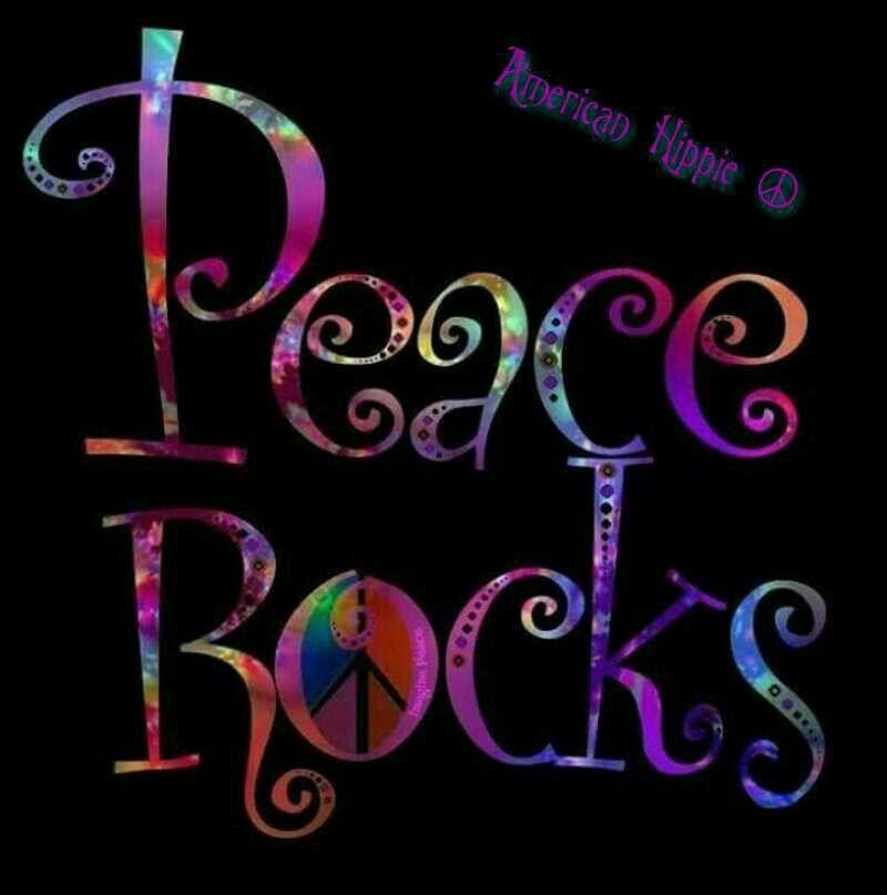 ☮ American Hippie ☮ Peace Rocks