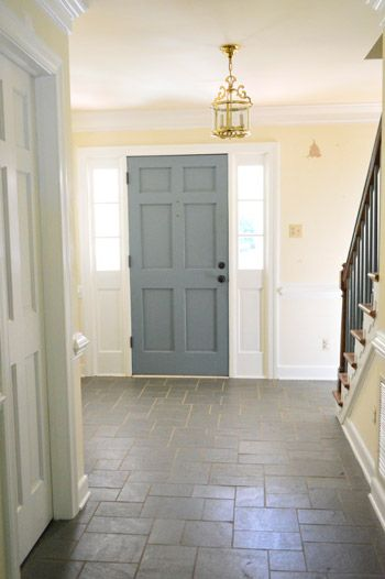 how to paint the front door different colors inside and out - How To Paint The Inside Of A House