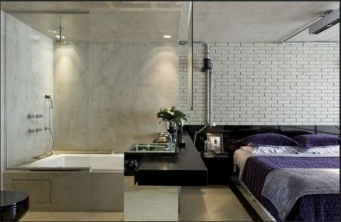 Loft moderno con elementos metlicos Pinterest Loft moderno
