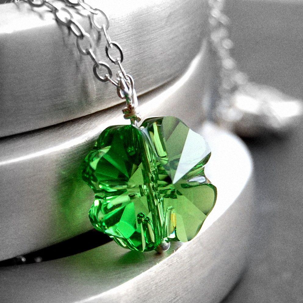 Shamrock pendant accessories pinterest swarovski pendants and shamrock pendant audiocablefo