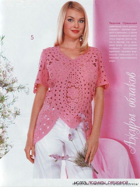 Blätter Und Blüten Tunika Häkeln Irish Crochet Tunic Irish