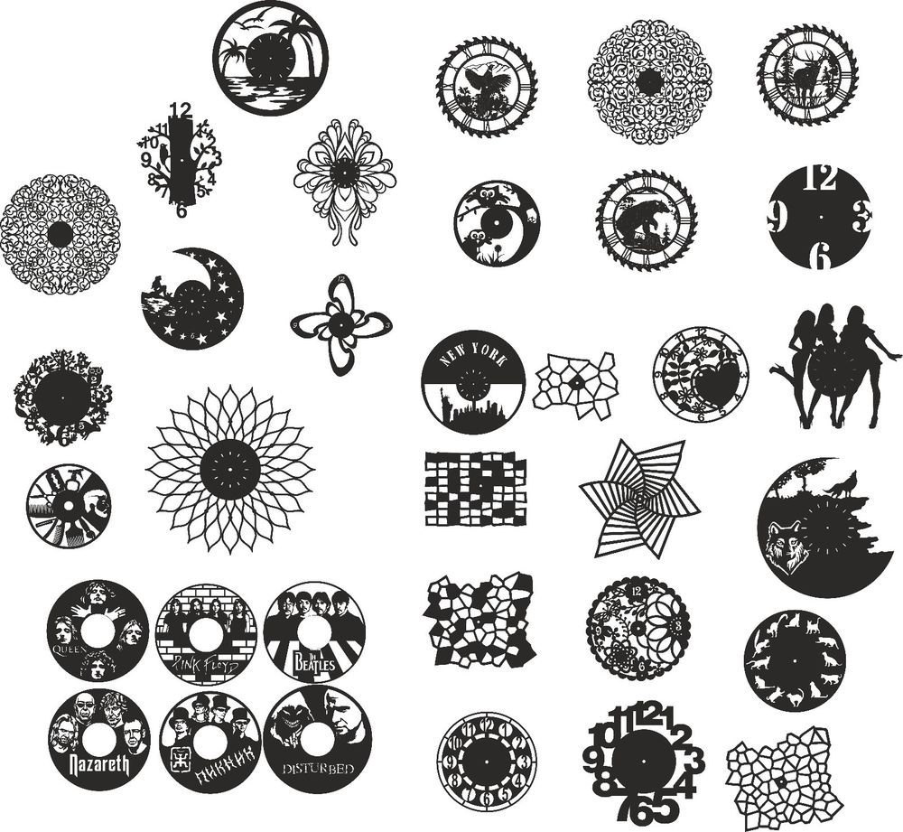 clocks dxf images