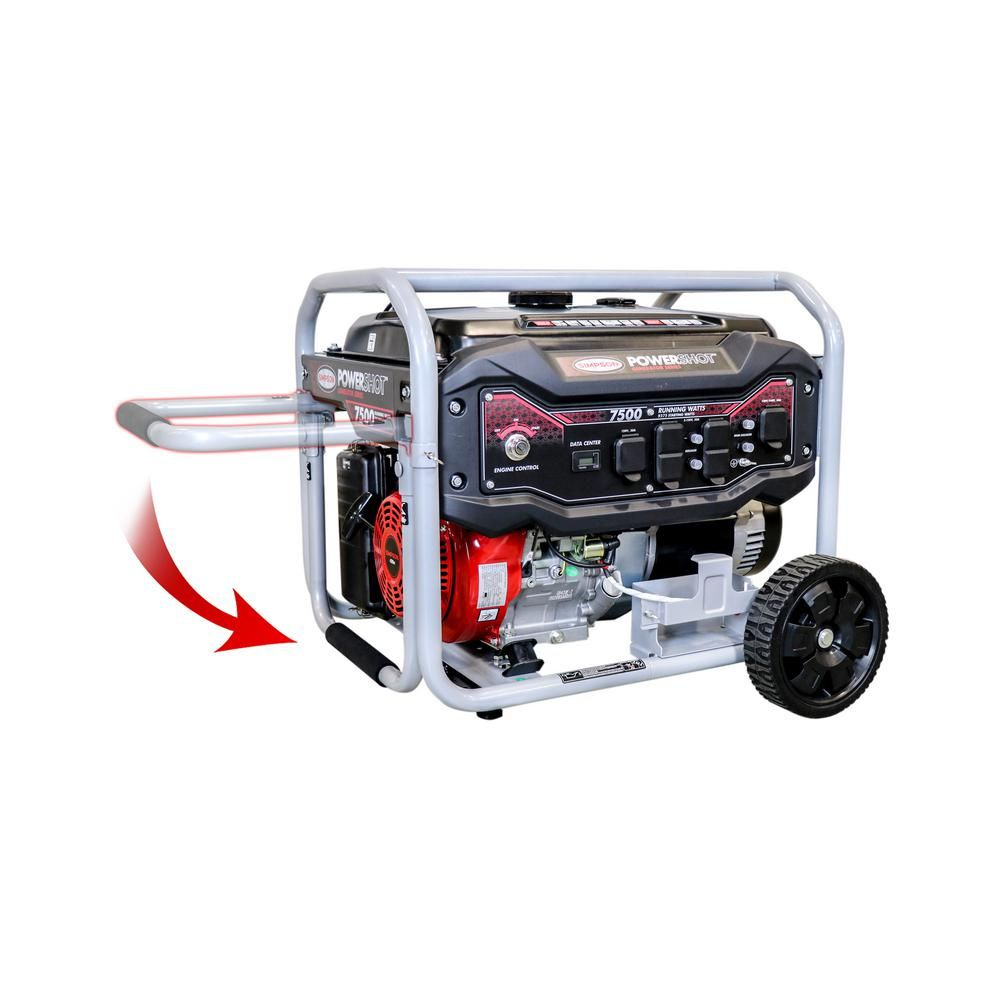 simpson 7 500 watt gasoline powered electric start portable generator [ 1000 x 1000 Pixel ]