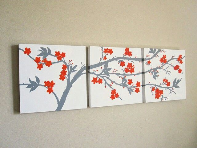 Tri Canvas Painting Canvas Art Wall Decor Three Canvas Painting Simple Wall Art