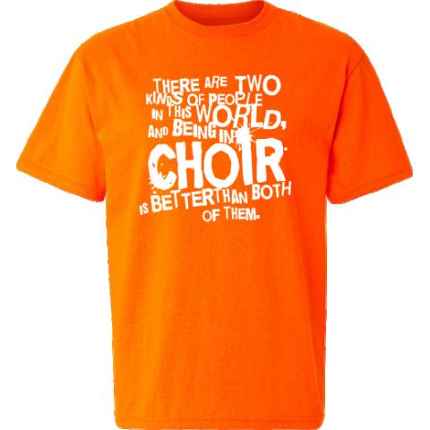 Choir T Shirts Safety Orange TShirt School Music T