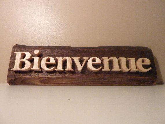 Ecriteau BIENVENUE, Panneau bienvenue, décoration du0027entrée, pancarte