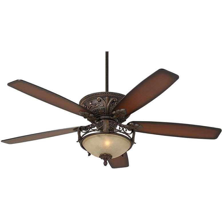 60 Casa Montego Scavo Glass Led Ceiling Fan 64v64 Lamps Plus