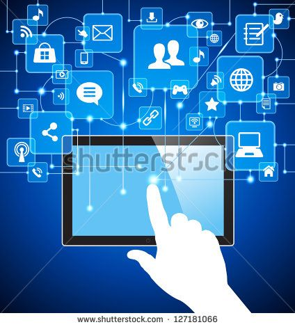 Concept Of Business Communication In A Computer Network Stock Photos Images Pictures Social Media Icons Business Communication Social Media