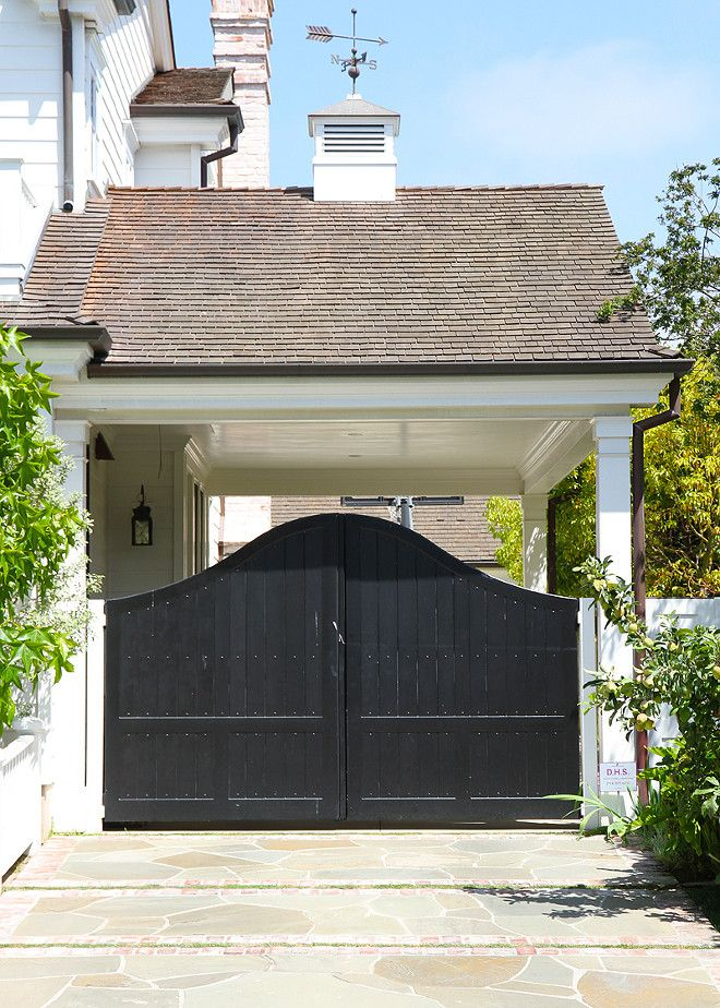 Gate Design Ideas iron gate design ideas how to make wrought iron gates Side Garage Porte Cochere Gate Gate Cynthia Childs Architect