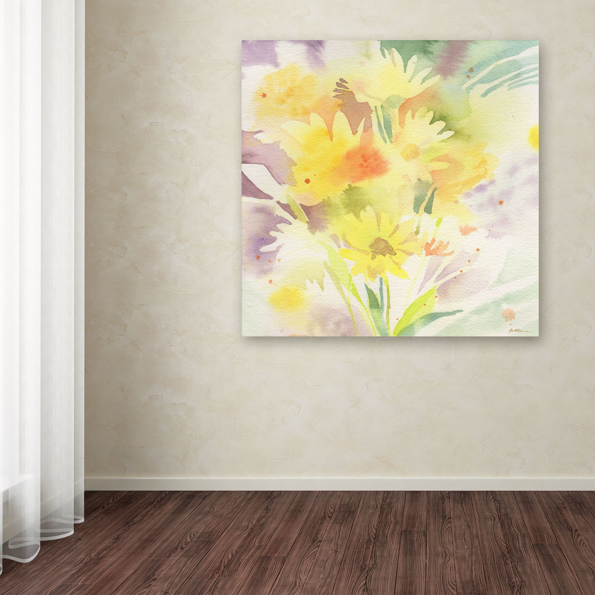 Daisy Dreams by Sheila Golden Painting Print on Wrapped Canvas ...