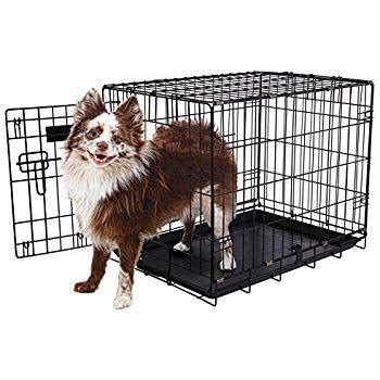 """Aspen Pet Single-Door Home Training Crate, 24""""W x 17""""D x ..."""