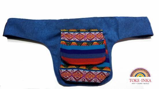 riñonera de aguayo o manta andina, unicas - toke inka  manta andina,algodon,acrilico artesanal