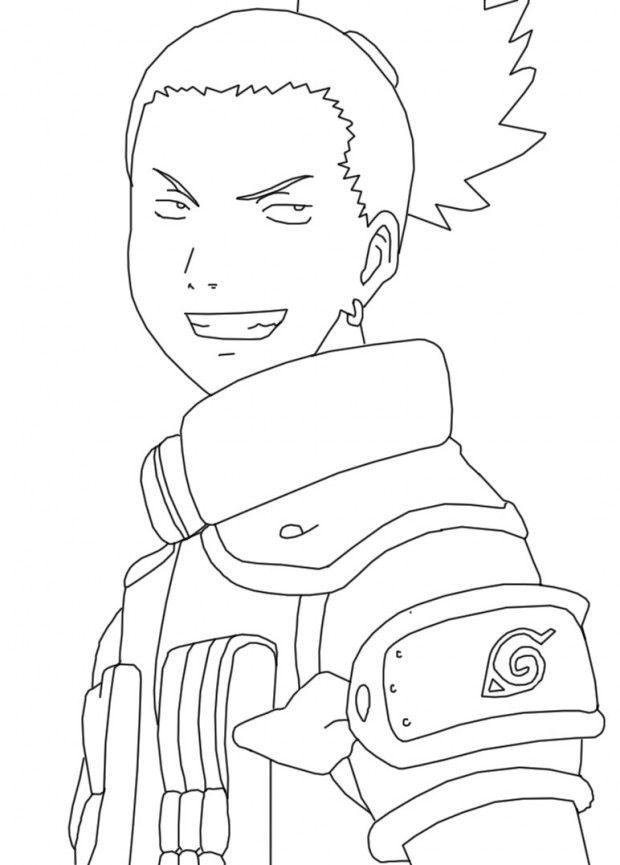 Shikamaru Naruto Character Coloring Pages