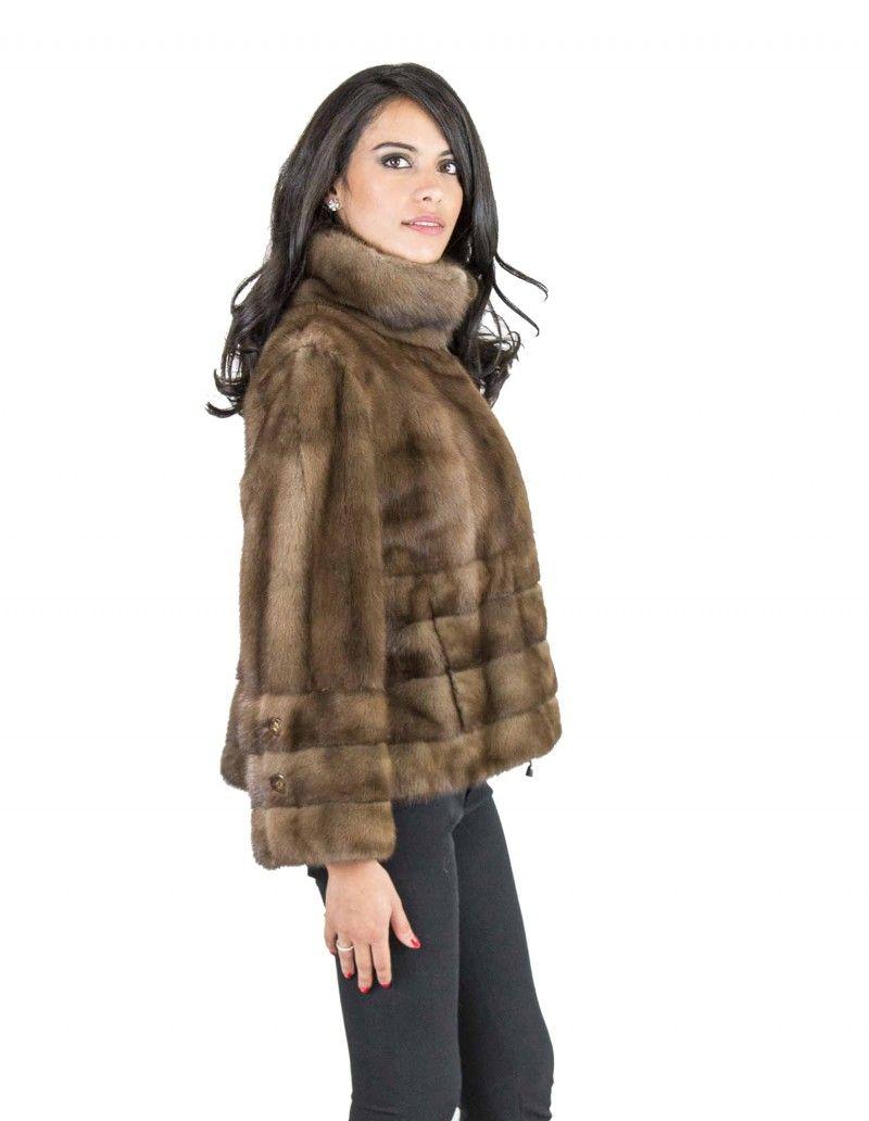 Pelliccia visone orizzontale 48 giacca demi coulisse vison норка fur mink  Nerzpelzes fourrure-01 50bd9b3d2fd