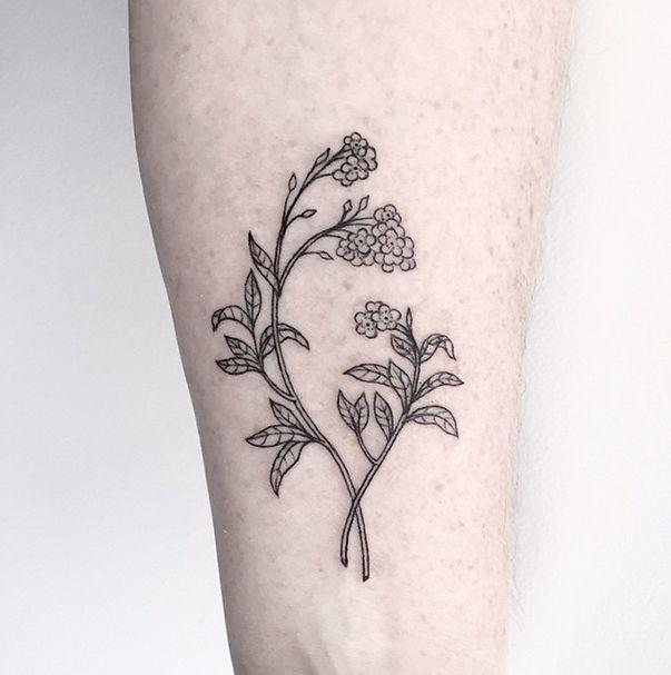 Flora tattoo minimal