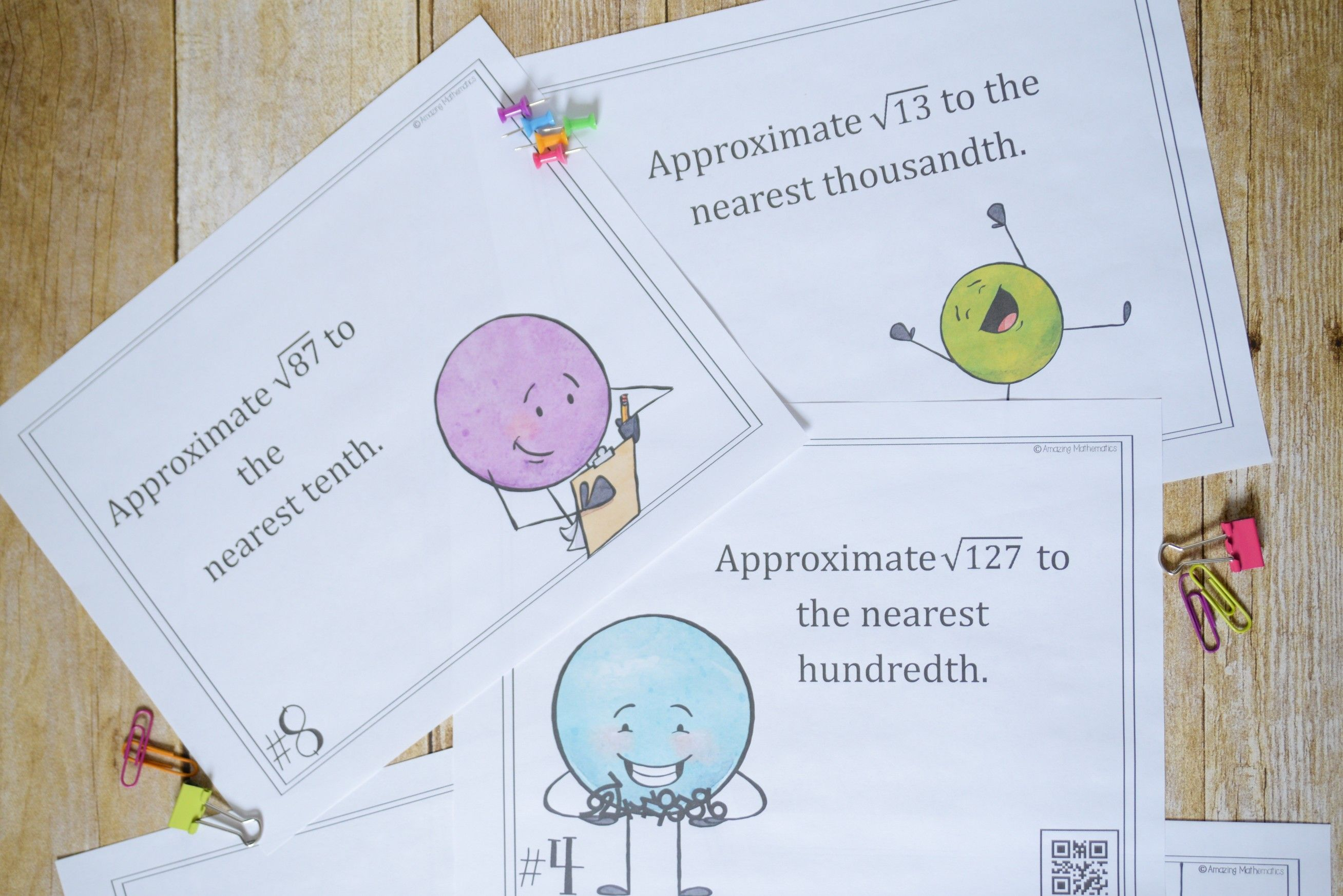 Irrational Numbers Task Cards Ordering And Approximating
