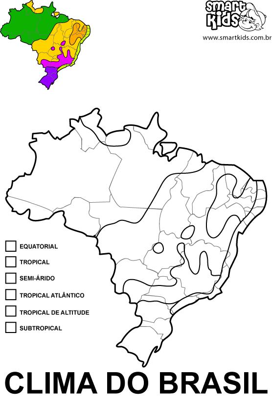 Colorir Desenho Clima Climas Do Brasil Relevo Geografia